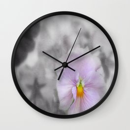 Lilac soft Focus Pansy Wall Clock