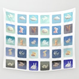 Rabbit Clouds Wall Tapestry
