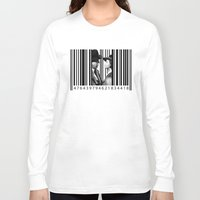 casablanca Long Sleeve T-shirts featuring Inside a Barcode. by Luigi Tarini