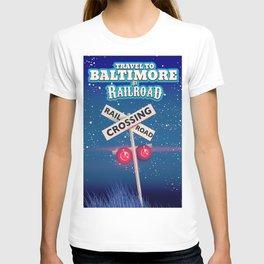 Baltimore Railroad travel poster T-shirt