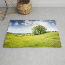 Idyllic Cotswold Summer Landscape Rug