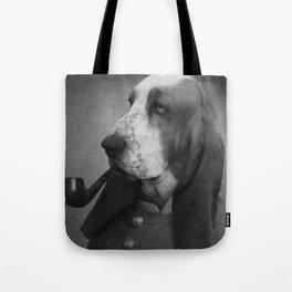 Smoking Dog Tote Bag
