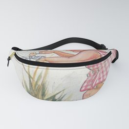 Girl rescuing a fairy from a spider web Fanny Pack