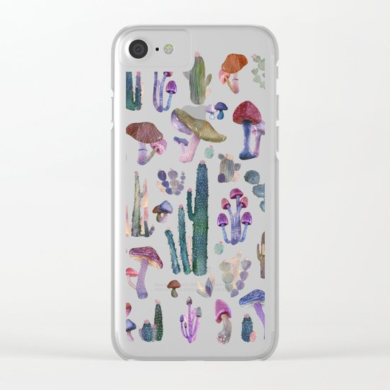 Cactus and Mushrooms NEW!!! Clear iPhone Case
