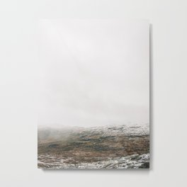 White winter mountain landscape | Norway travel photography print | Trolltunga Wanderlust art Metal Print