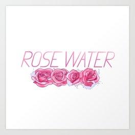 Rose in Pink Water Art Print