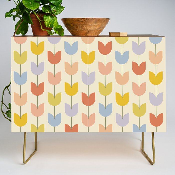 Tulip_Pattern__Rainbow_Credenza_by_colour_poems__Gold__Walnut