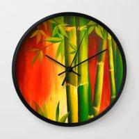 bamboo Wall Clocks featuring Bamboo by OLHADARCHUK