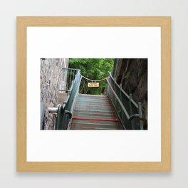 Rusty Stairs Framed Art Print