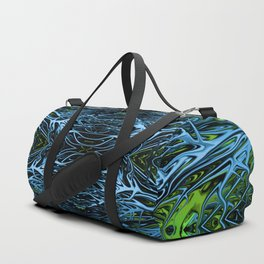 Emerald Ice Lightning III by Chris Sparks Duffle Bag