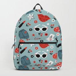 Rockabilly woman Backpack