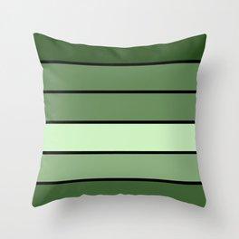 Green Stripes Throw Pillow