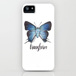 Butterfly - The Great Purple Hairstreak - ATLIDES HALESUS by Magda Opoka iPhone Case