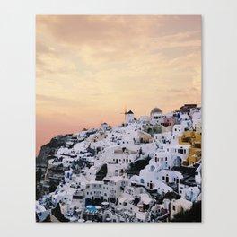 Sunset over Oia Canvas Print