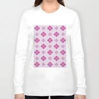 knit Long Sleeve T-shirts featuring knit argyle by colli13designs