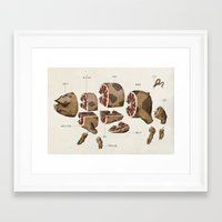 pig Framed Art Prints featuring Pig by Simon Riviere