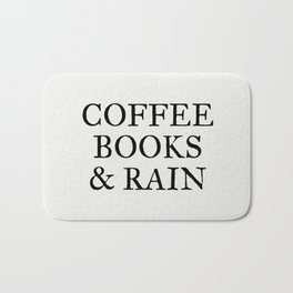 Coffee Books & Rain - Paper Bath Mat