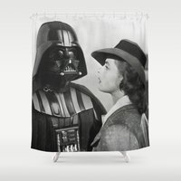 casablanca Shower Curtains featuring Darth Vader in Casablanca by Luigi Tarini