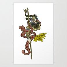 CORN OR MAIZE  Art Print
