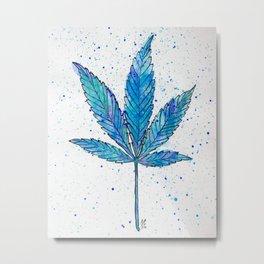 Canna Be Blue Metal Print
