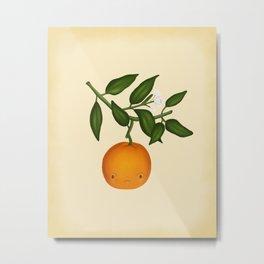 The Angry Orange Metal Print