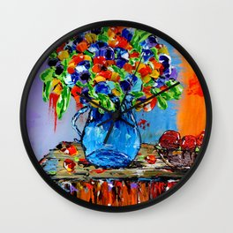 Bountifully Blessed Wall Clock