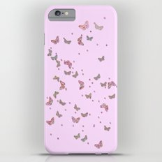 Butterflies diamonds and glitter II- Pink Glitter butterfly pattern iPhone 6s Plus Slim Case