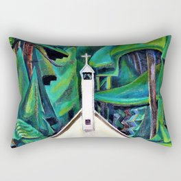Emily Carr - The Indian Church - Digital Remastered Edition Rectangular Pillow