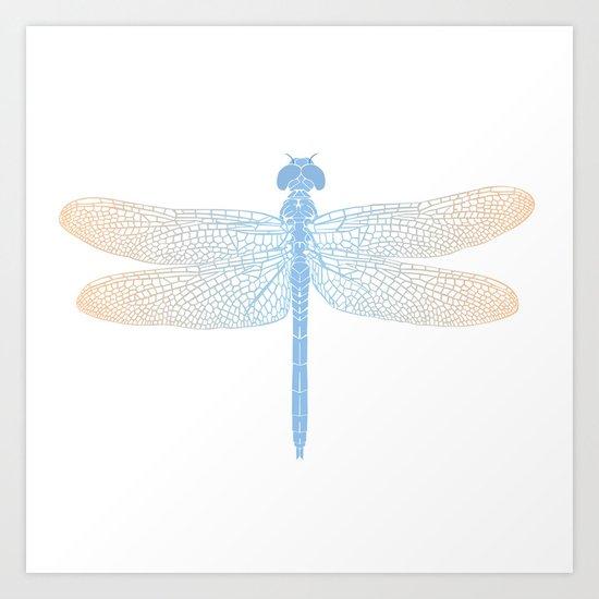 dragonfly v2 Art Print