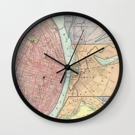 Vintage Map of St Louis MO (1897) Wall Clock