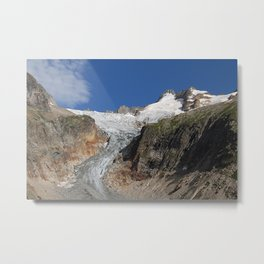 Alpine Glacier Alps Mountains Landscape Metal Print