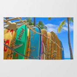 Hawaiian surfboards Rug