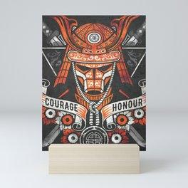 Samurai Warrior Mask, Bushido Mini Art Print