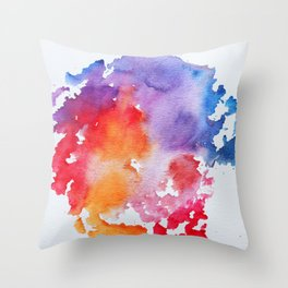 Vivid - abstract painting with pink, purple, red, orange, blue colors that pop Throw Pillow
