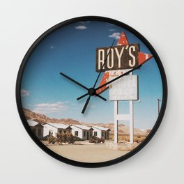 Roy's Retro Motel Wall Clock
