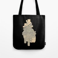 maps Tote Bags featuring maps by yayanastasia
