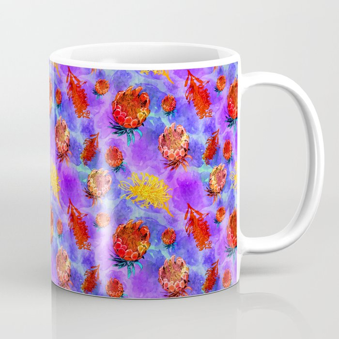 Colourful Australian Native Floral Pattern Coffee Mug