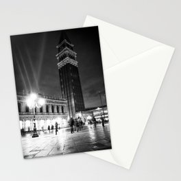 Piazzetta San Marco at night with campanile bell tower Stationery Cards