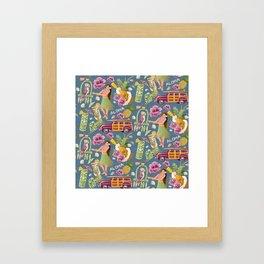 Hula Half Drop Framed Art Print