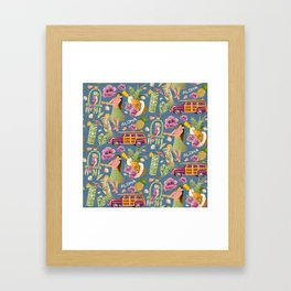 Hula Half Drop Framed Art Print