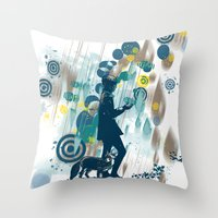 le petit prince Throw Pillows featuring le petit prince 2010 by frederic levy-hadida
