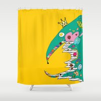 king Shower Curtains featuring King by R. Gorkem Gul