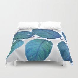 blue leaves pattern Duvet Cover
