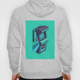 Polybius Arcade Game Machine Cabinet - Isometric Green Hoody