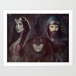 "bat man vs superman ""Samarkand""  Art Print"