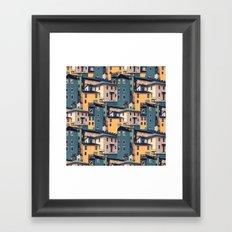Night Castles (Pattern) Framed Art Print