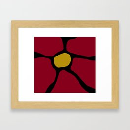 Red Flower Framed Art Print
