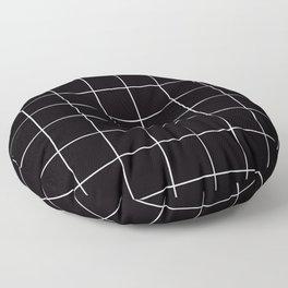 Citymap Grid - Black/White Floor Pillow