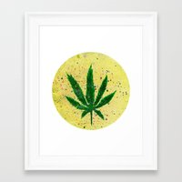 marijuana Framed Art Prints featuring MARIJUANA by Sha Abdullah