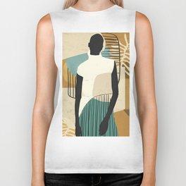 Tropical Girl /Abstract Art Biker Tank